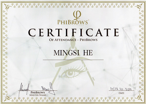 phiacademy artist map phi microblading eyebrow yumi lashes lift